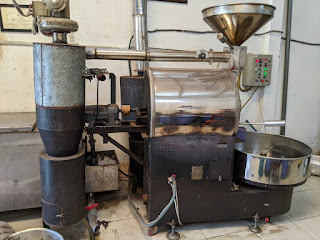 Thanh lí: Máy rang cà phê 20kg 1 mẻ
