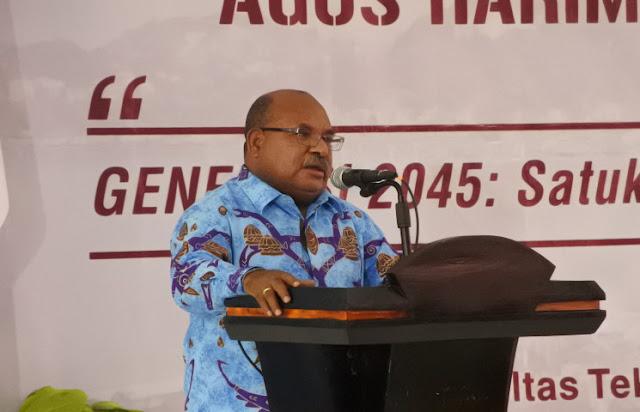 Lukas Enembe Pertanyakan Opini WTP Kabupaten Asmat