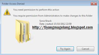 Cara menghapus file atau folder di windows7 yang membandel
