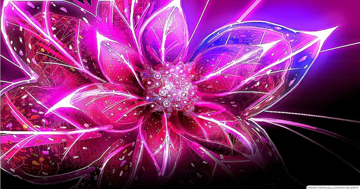 Purple And Pink Abstract Wallpaper