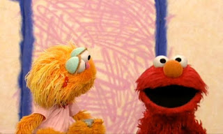 Elmo wants to interview Zoe but she asks him to interview with Rocco. Sesame Street Elmo's World Friends Interview