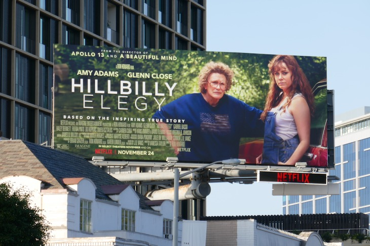 Hillbilly Elegy Netflix film billboard