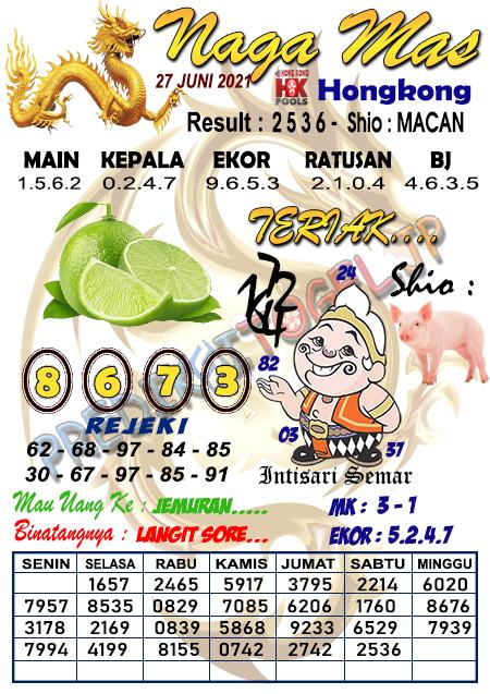 Syair Nagamas HK Minggu 27 Juni 2021