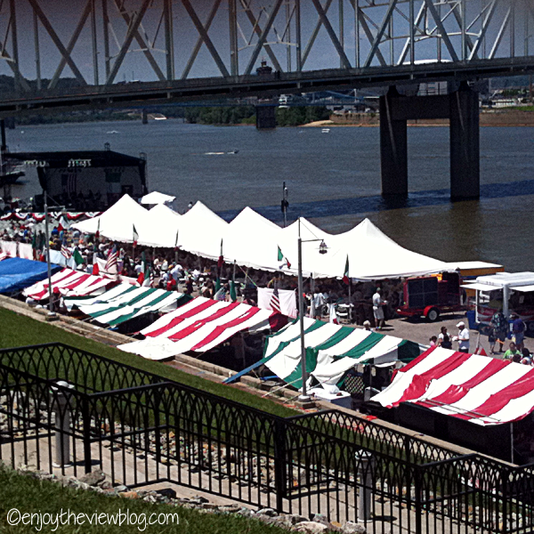 Newport Italian Festival along the Ohio River in Newport, Kentucky