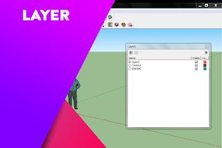 Cara cepat membuat layer di dalam SketchUp