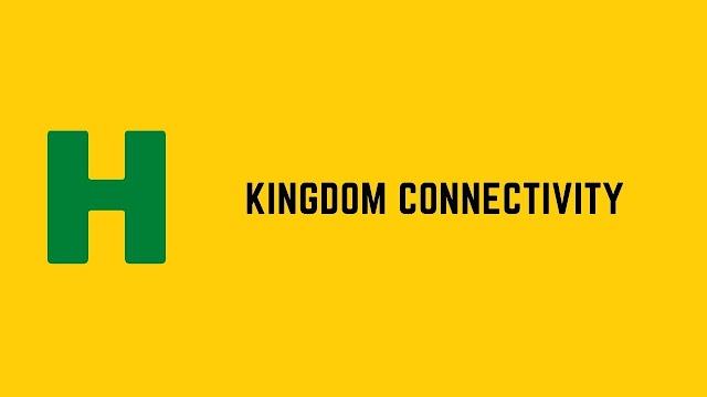 HackerRank Kingdom Connectivity problem solution