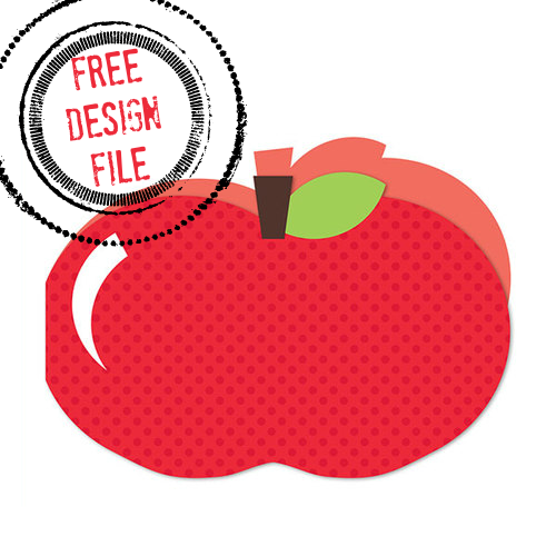 lori whitlock, free apple design, free silhouette studio cut file, free download, shaped cards