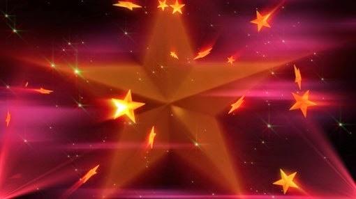 retrospectiva animada vídeo intro estrelas