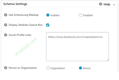 all in one seo pack schema setting