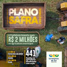 Laranjeiras do Sul - PLANO SAFRA mais de 2 milhões na agricultura municipal