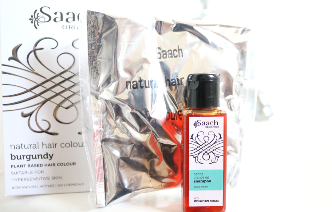 Saach Organics Natural Hair Colour in Burgundy review