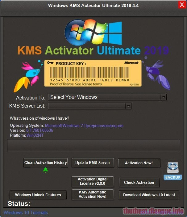Download Windows KMS Activator Ultimate 2019 v4.7 Full Crack