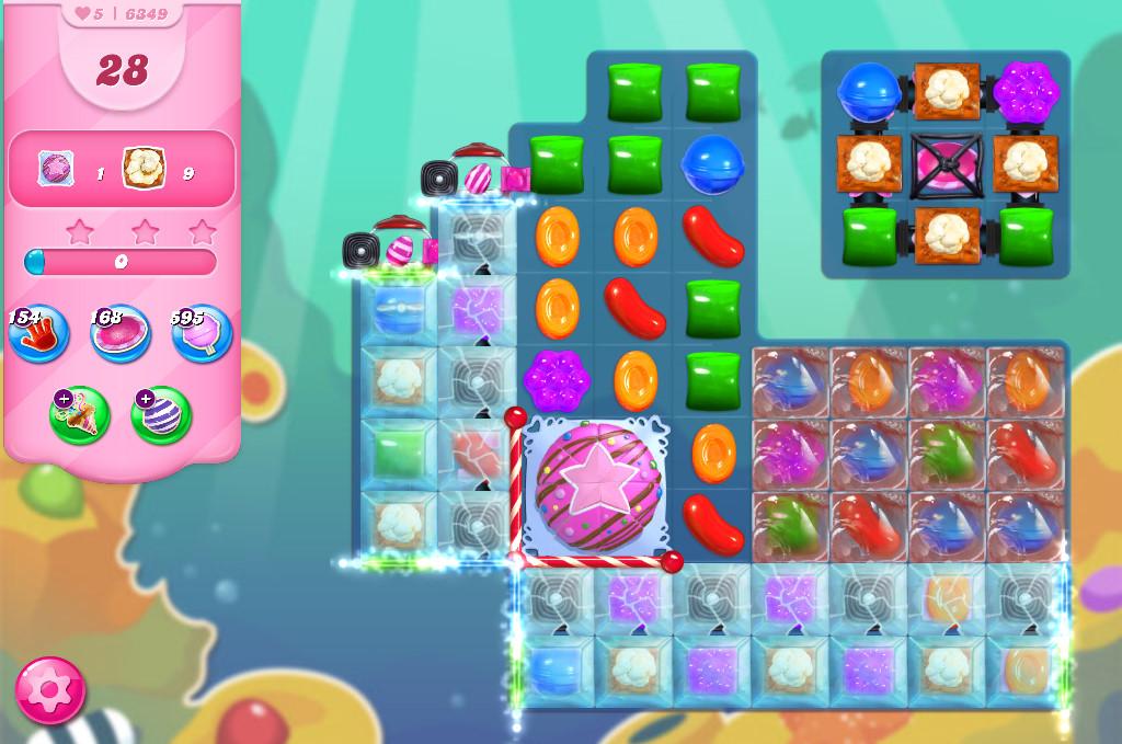 Candy Crush Saga level 6349
