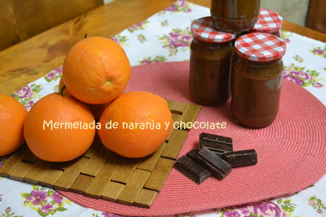 MERMELADA DE NARANJA  Y CHOCOLATE