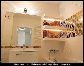 luksusowa łazienka ze złotem