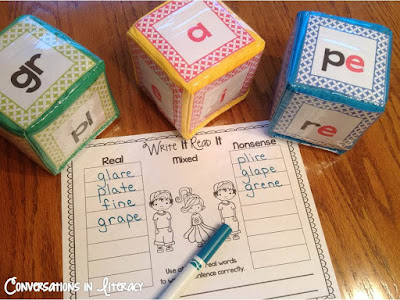 Roll A Word Silent e Word Activities