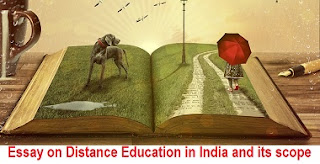 Essay on Distance Education in India and its scope