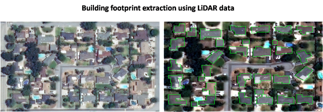 Building extraction from LiDAR data