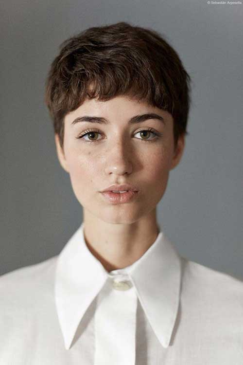 Latest Cute Boyish Very Short Haircut Style Picture