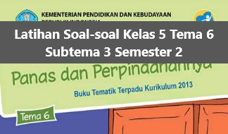Latihan Soal-soal Kelas 5 Tema 6 Subtema 3 Semester 2