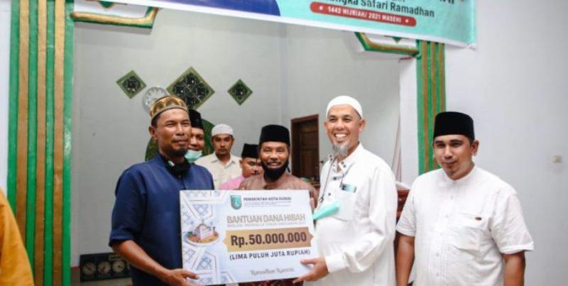 Wako Dumai Safari Ramadhan pada Tiga Kelurahan di Kecamatan Sungai Sembilan