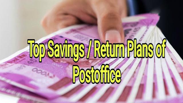 Top Savings / Return Plans of Postoffice