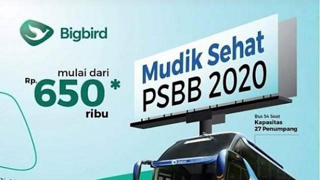 Viral Poster Mudik Sehat PSBB 2020, Polisi Panggil Pihak Blue Bird