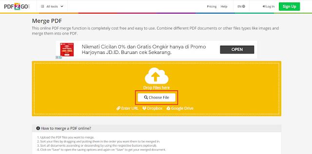 3 Cara Menggabungkan Beberapa File PDF (Merge PDF) Menjadi Satu File Secara Online