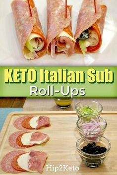 Italian Sub Keto Roll-Ups