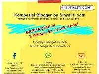 [Gratis] Lomba Menulis Blog Nasional 2018 di Sinyaliti.com