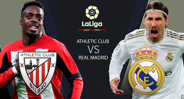 Real Madrid vs. Athletic Bilbao EN VIVO EN DIRECTO por LaLiga Santander 2020
