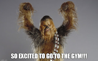 Star Wars Chewbacca loves the gym. So healthy.