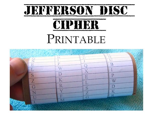 Free Jefferson Disc Cipher Printable