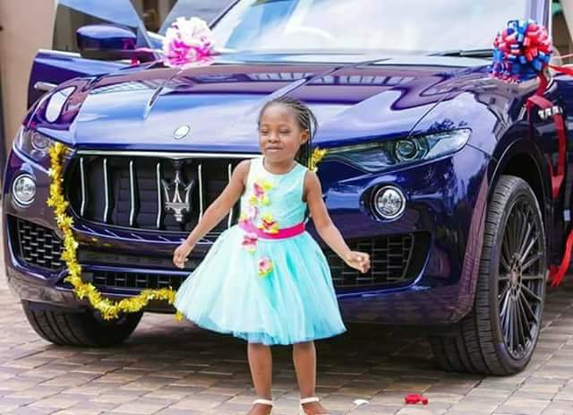 Photos: Wealthy Malawian pastor, Prophet Bushiri buys brand new Maserati for his little daughter on her birthday