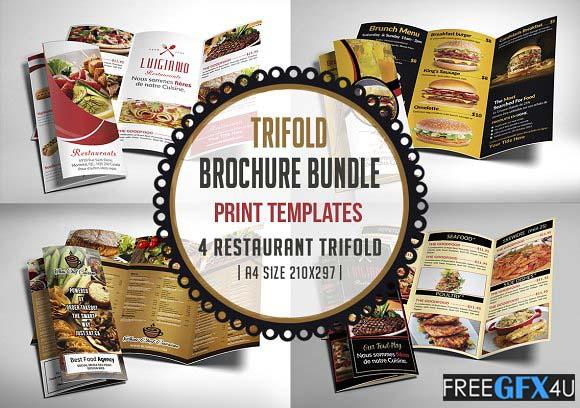 Restaurant Menu Trifold Bundle