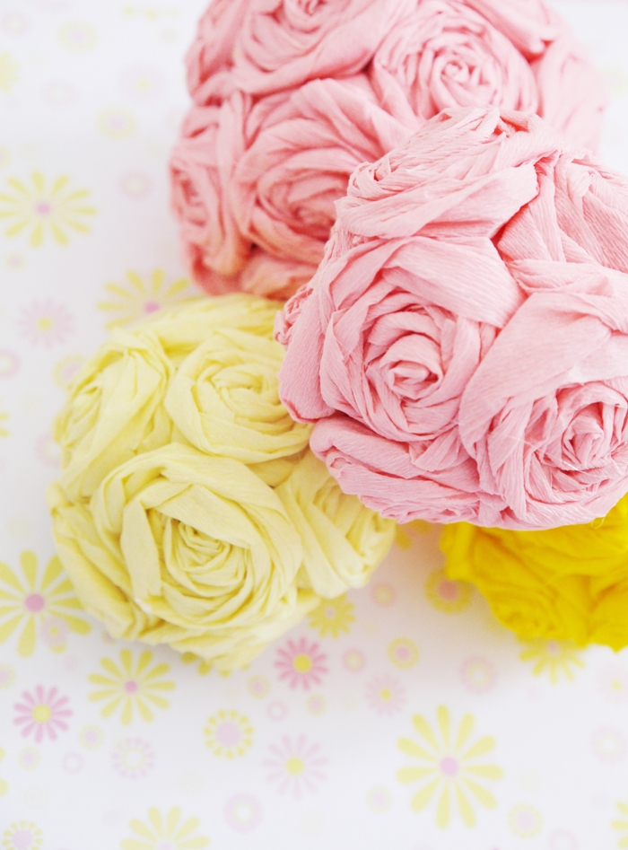 DIY Crepe Paper Flower Pomanders Party Decorations - BirdsParty.com