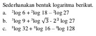 Contoh soal sifat Logaritma
