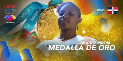 Beatriz Pirón otorga primer  de oro  RD en los Juegos Panamericanos Lima-2019