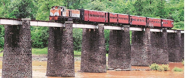 The 107-year-old narrow gauge heritage train rout from Billimora to Waghai