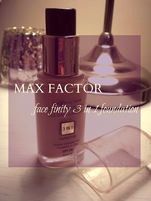Max factor 3in1 foundation: Review