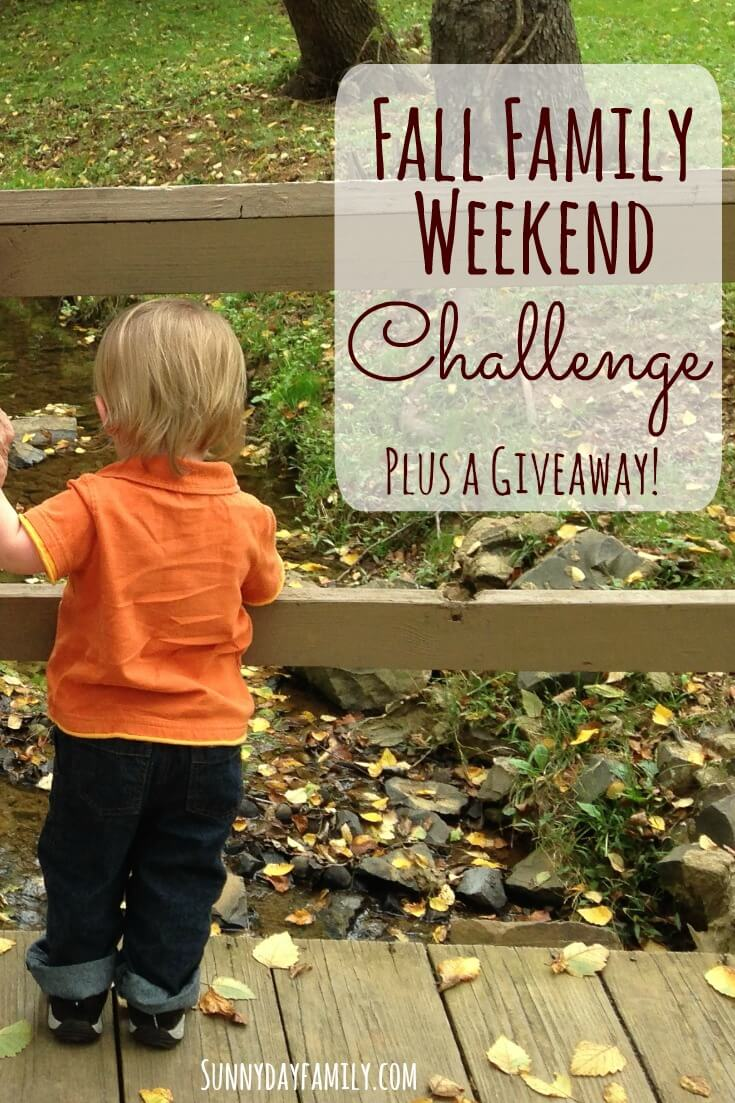 Bring the FUN back to your Fall weekends with our Fall Family Weekend Challenge! Find fun activities for every weekend this Fall plus an awesome giveaway.