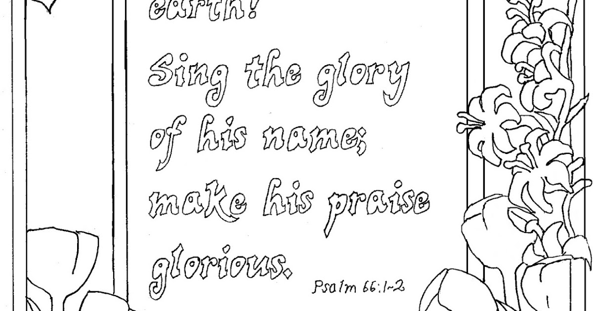 Coloring Pages for Kids by Mr Adron Shout For Joy Psalm