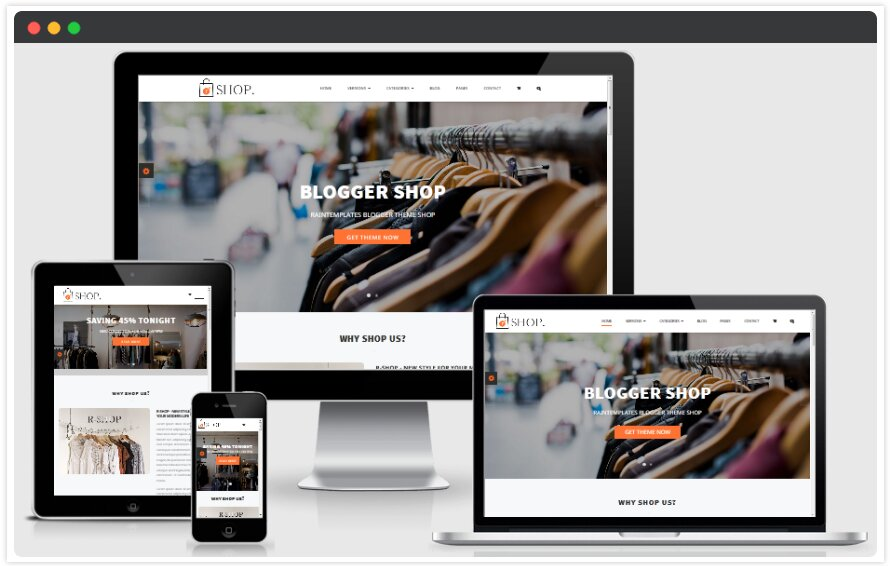 R shop blogger template