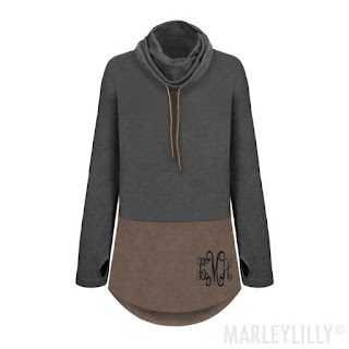 charcoal & brown personalized tunic
