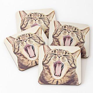 tabby cat set 4 coasters