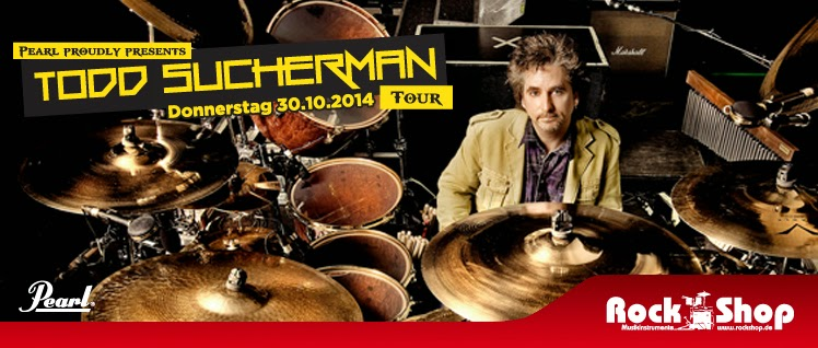 Rock Shop Musikinstrumente Karlsruhe Pearl Drum Clinic Todd Sucherman