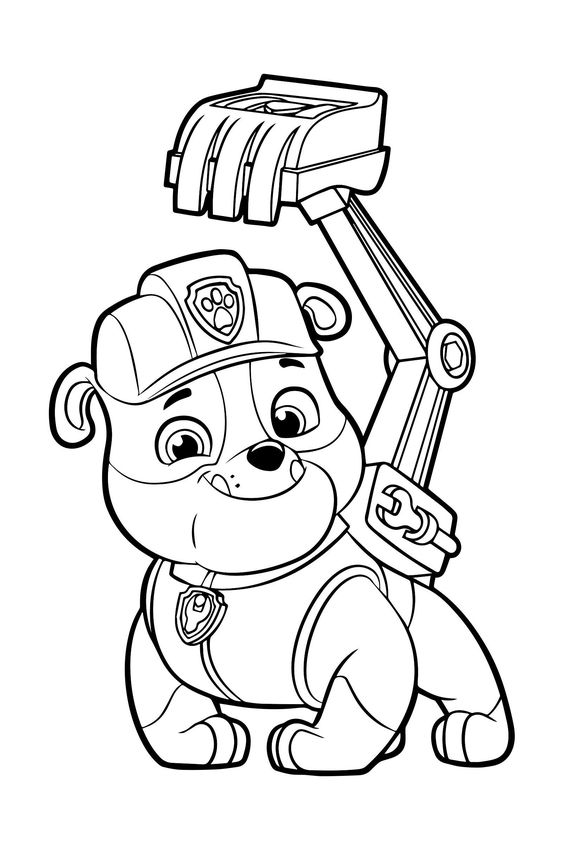 Paw patrol coloring pages 42