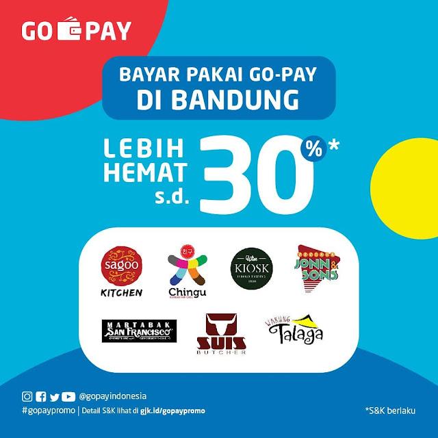 #GOPAY - #Promo Bayar Pakai GOPAY di Bandung Hemat Hingga 30%