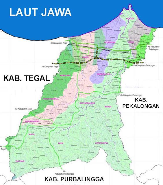 Gambar Peta Daera Aliran Sungai (DAS) Pemalang