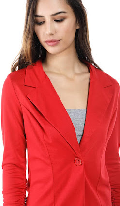 Quality Red Blazers Jackets For Women